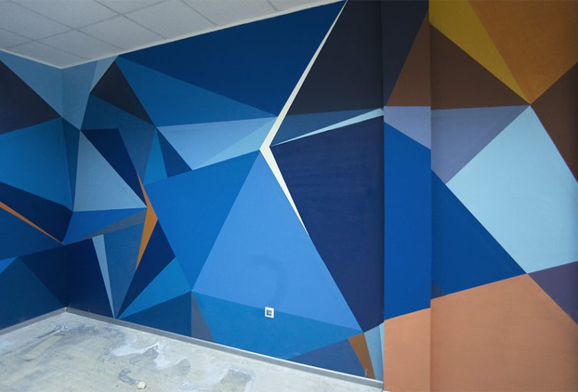 роспись стен граффити геометрический рисунок
